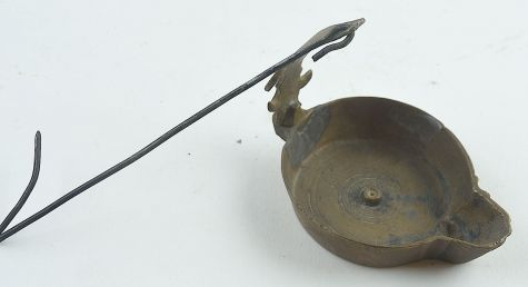 Brass and copper cruise lamp with hook