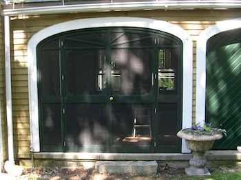 Painted Screen Frame, Arched Screen Door