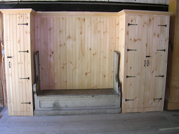 Closets in a barn