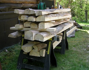 Stack of cut logs