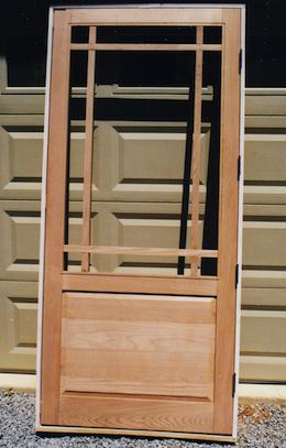 Cedar Framed Screen Door