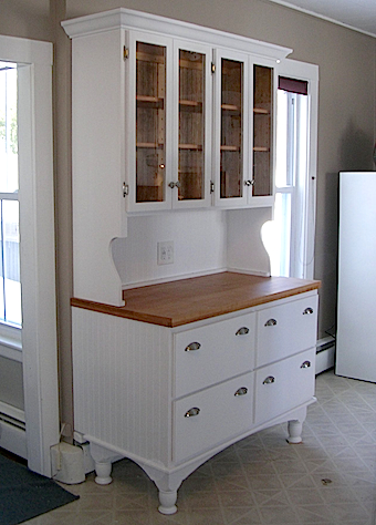 Custom-built kitchen hutch