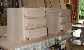 drawers being built